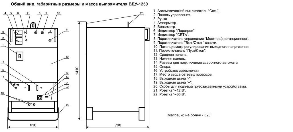 ВДУ-1250 рекомендуется для
